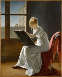 Young Woman Drawing (1801) - Marie-Denise Villers